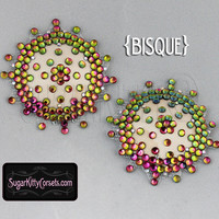 Nearly Nude Sunburst Rhinestone Nipple Pasties - SugarKitty Corsets