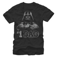 Star Wars #1 Dad Darth Vader Father's Day T-Shirt - Black