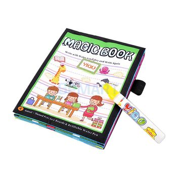 Magic Cloth Book Baby Water Doodle Book with Magic Pen Toddlers Educational Toys