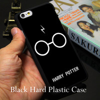 Harry Potter Glasses Black Phone Case for iPhone 5S 5 SE 5C 4 4S 6 6S 7 Plus Cover ( Soft TPU / Hard Plastic for Choice )