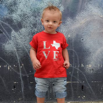 Texas LOVE Premium Toddler T-Shirt, Boy or Girl
