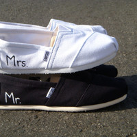 The Jack and Jill - Mr. and Mrs. Wedding TOMS (2 pairs)