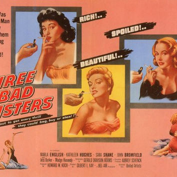 Three Bad Sisters 11x14 Movie Poster (1955)