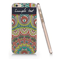 Supertrampshop - Mandala Floral Customized Text - Cover Iphone 6 6s Full Protection Durable Transparent Plastic Case (VAS562)