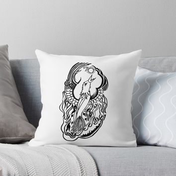 'Phoenix Tattoo' Throw Pillow by blakcirclegirl