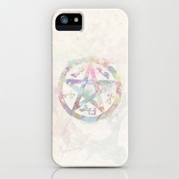 Devil's Trap Supernatural Watercolour iPhone & iPod Case by Dan Lebrun