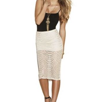 CROCHET FRINGED SKIRT