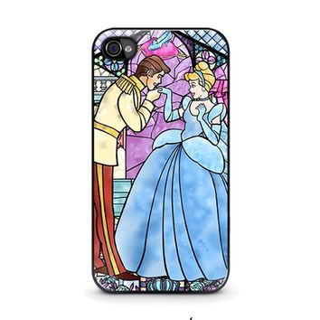 cinderella art glasses disney iphone 4 4s case cover  number 1