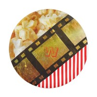 Popcorn and movie reel paper plates