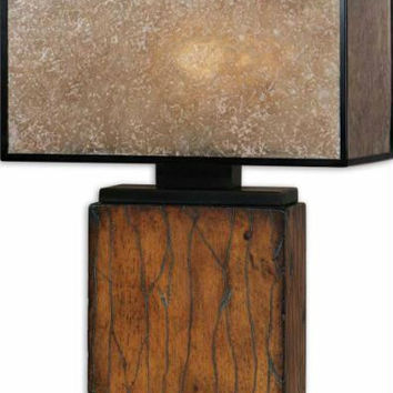 Table Lamp - Rustic Mahogany Finish
