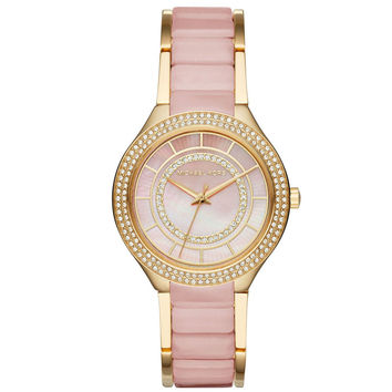Michael Kors Kerry Gold-Tone and Blush Watch MK3508 37mm