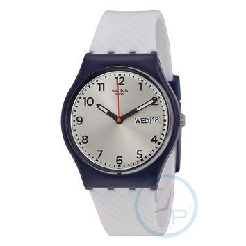 Swatch GN720 White Delight Men's Quartz Watch