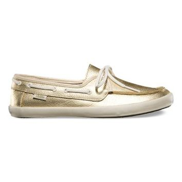Vans Chauffette (Leather metallic gold)