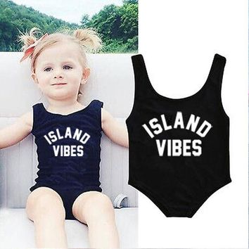 Mommy + Me ISLAND VIBES one piece Swimsuits