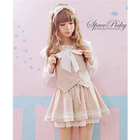 {Set}School Uniform Set With Waistcoat and Suspender Skirt Free Ship SP141380 from SpreePicky