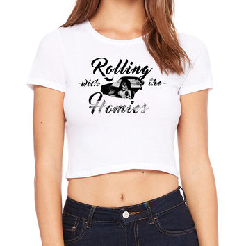 Rollin With The Homies Crop T-Shirt