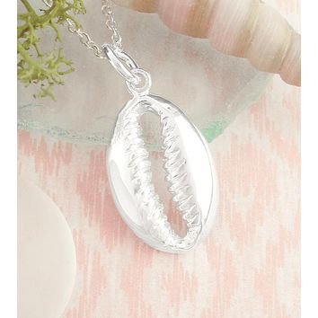 Brilliant Open Cowry Shell Necklace