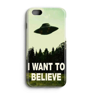 "Apple Iphone 6 4.7"" Case - The Best 3d Full Wrap Iphone Case - I Want To Believe Xfiles Photo"