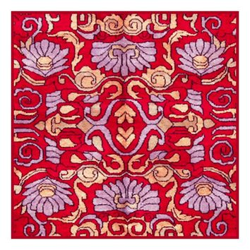 Persian Design Red and Violet by William Morris Design Counted Cross Stitch or Counted Needlepoint Pattern