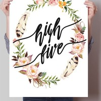 High Five Floral Art Print