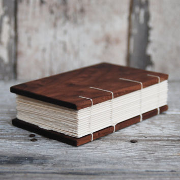 Reclaimed Walnut OR Oak Coptic Bound Journal