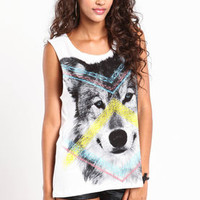 Native Wolf Muscle Tank - LoveCulture