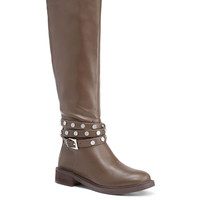 Studded-strap Riding Boot