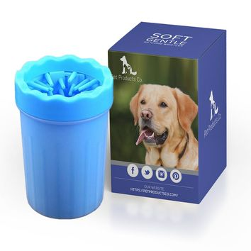 Large/Medium Dog Paw Cleaner, Portable Soft Silicone Brush Cleaner