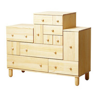 """IKEA PS 2012 Chest and add-on unit - pine - 51 1/8x18 7/8x42 7/8/52 3/8 """" - IKEA"""