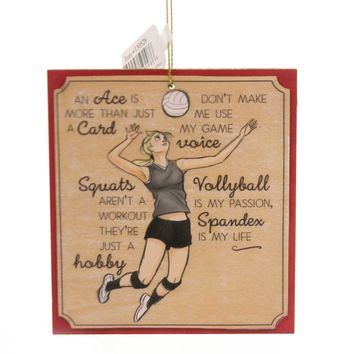 Holiday Ornaments VOLLEYBALL KEEPSAKE ORNAMENT Wood Sports Game 130526