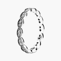 Women's PANDORA 'Sparkling Leaves' Band Ring