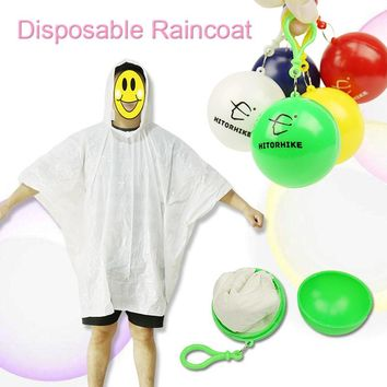 1 Piece Disposable Raincoat Adult Emergency Waterproof Hood Poncho Outdoor Bicycle Camping Must RainCoat Women Men Travel Kits