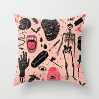 Whole Lotta Horror Throw Pillow by Josh Ln
