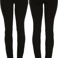 JADE JEANS Solid Black Stretch Jegging