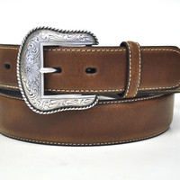 Nocona Men's Western Leather Belt-Brown