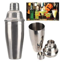 2015 New Stainless Steel Cocktail Shaker Martini Bartender Shaker Drink 250cc 350cc 550cc 750cc Mixer Home and Bar Tools