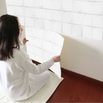 3D PE Foam Wallpaper DIY Wall Stickers Wall Decor Embossed Brick Stone self-adhesive design Stickers for family safe home space