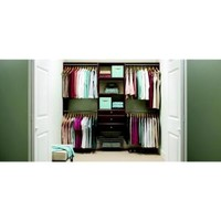 Martha Stewart Living, 4 ft. - 8 ft. Espresso Deluxe Starter Closet Kit, D1 at The Home Depot - Mobile