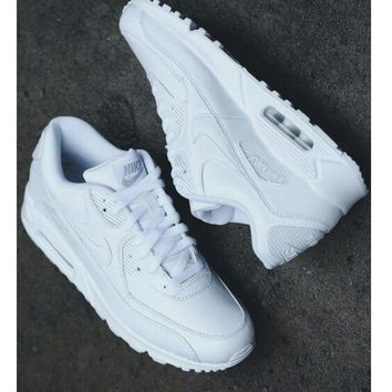 NIKE AIR MAX 90 fashion ladies men running sports shoes sneakers F-PS-XSDZBSH Pure white-2