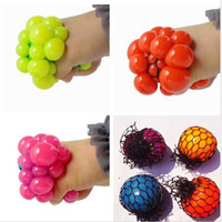 1Pcs New Cute Anti Stress Face Reliever Grape Ball Autism Mood Squeeze Relief Healthy Toy Funny Geek Gadget Vent Toy