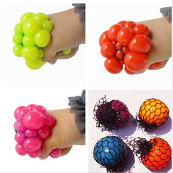Anti Stress Face Reliever Grape Ball Autism Mood Squeeze Relief Toy
