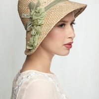 Vintage Inspired Pure Edith Hat in Green by ModCloth