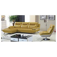 Luxury Living Room Chaise Set Sectional Sofa Furniture Leather Recliner Corner Modern
