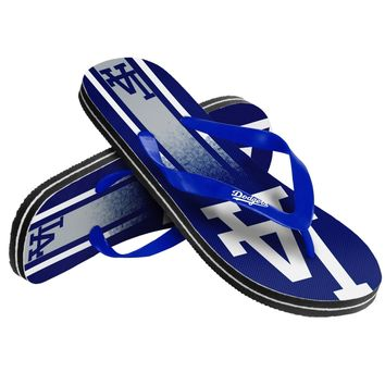MLB Los Angeles Dodgers Unisex Gradient Thongs Flip Flops Sandals Baseball