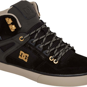 DC Spartan High WC Water Resistant Shoes - Black/Black/Grey