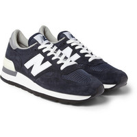 New Balance 990 Nubuck and Mesh Sneakers | MR PORTER