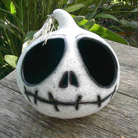 Halloween Gourd Jack Skellington Candy  Bowl