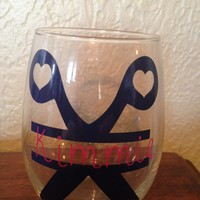 Hair Stylist Personalized Wine Glass