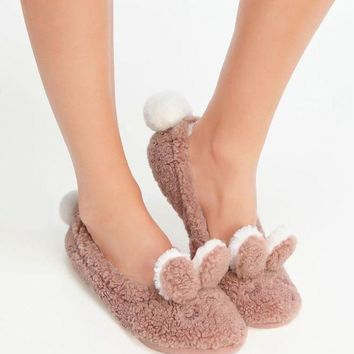 ESBONN Oysho Cute rabbit Home Furnishing shoes