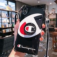 Champion Newest Popular Mobile Phone Cover Case For iphone 6 6s 6plus 6s-plus 7 7plus 8 8plus X XSMax XR Black